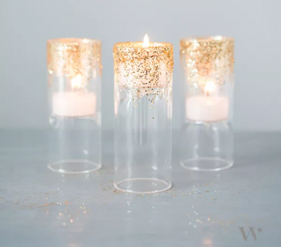 Glittery Decorative Candles